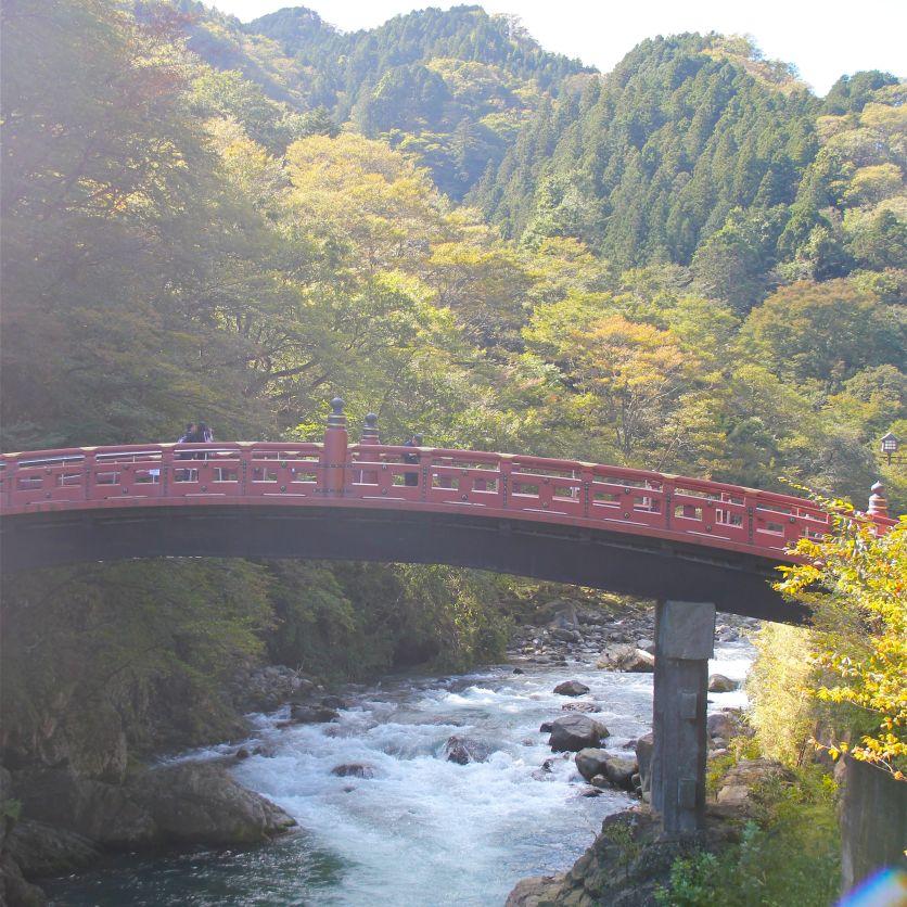 Scared bridge to Nikko's shrines