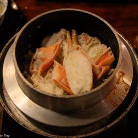 Crab claypot rice. Alright tasting