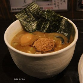 The seaweed is so good - crispy and tasty. The egg is cooked to perfection, the yolk melts in your mouth and the pork inside, gosh!!! Best Tsukemen I've ever had!