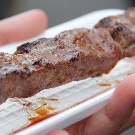 The meat was succulent! I just wanted more of it! (500Yen = SGD6.20)