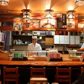 We went into some random sushi restaurant. Pretty good