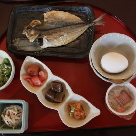 A real heavy authentic Japanese breakfast