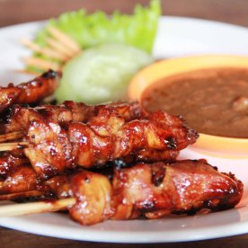Chicken satay - It was better than the satay I had at Warung Murah.