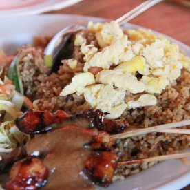 Nasi Goreng with chicken satay - This was good.