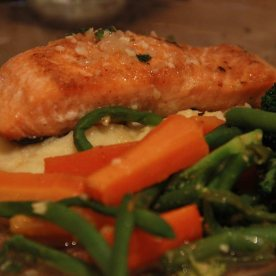 Salmon steak - It was nicely seared but nothing fantastic about this dish.