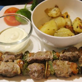 Beef kebab - It was nicely seasoned but the meat was slightly tough.