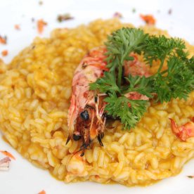 Prawn risotto with pumpkin puree - Once again, another delicious dish.