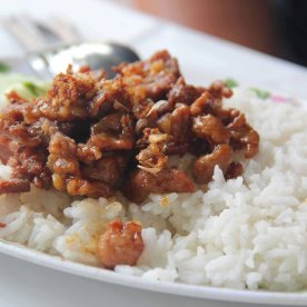 Pork and garlic rice.