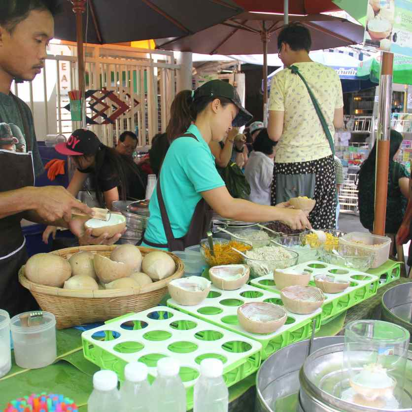The coconut ice cream is a must have at Chatuchak!