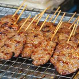 Delicious satay selling on the streets