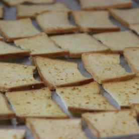 This toasted bread can be found at JJ section 4 ski 48. They sell in packets where you can bring back. It tastes good!