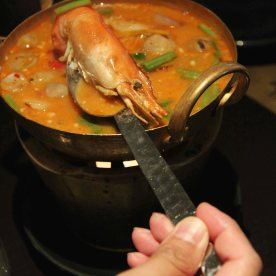 Tom yum soup - so tasty so it is filled with seafood.