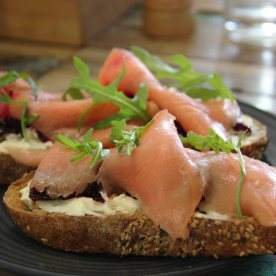 Smoked trout sandwich