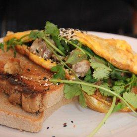 Pork belly omelette