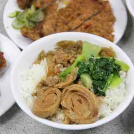 Pork rice with pig intestines