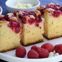 Lemon zest raspberry cake